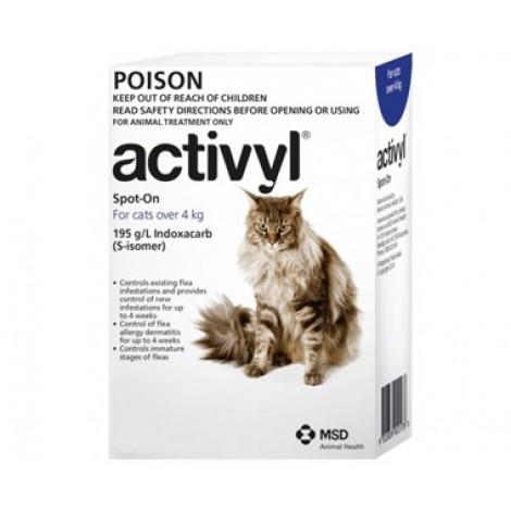 Activyl for Large Cats over 4kg (8.8lb) 6 Pack