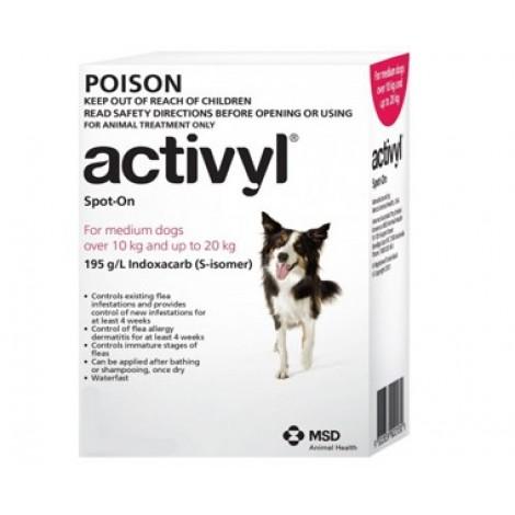 Activyl for Dog 10-20kg (22-44lb) 6 Pack