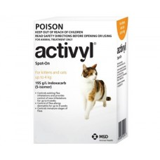 Activyl for Small Cats 1.5-4kg (3.3-8.8lb) 6 Pack