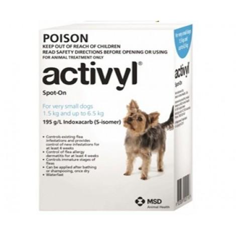 Activyl for Dogs 1.5-6.5kg (3.3-14lb) 6 Pack
