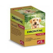 **Drontal for Large Dogs 35 kg (77 lbs) 70 tabs - Short Expiry