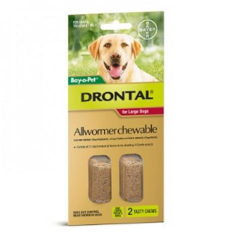 Drontal Allwormer Chewable 35kg (77lbs) - 2 chews
