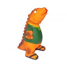 **Latex Dinosaur Squeakers Orange 19cm