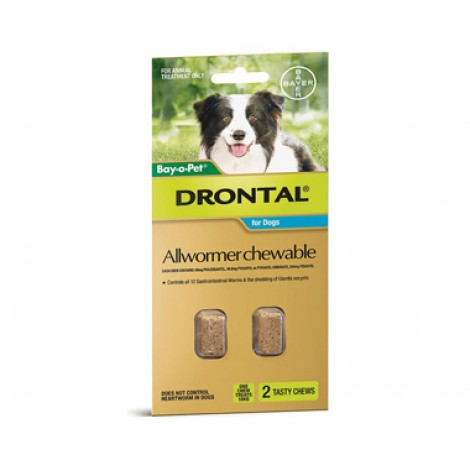 Drontal Allwormer Chewable 10kg (22lbs)