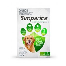 **Simparica Green Large 6 Pack - Short Expiry