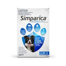 **Simparica Blue Medium 6 Pack - Short Expiry