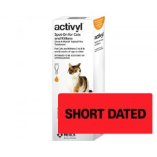 **Activyl for Small Cats 1.5-4kg (3.3-8.8lb) Single
