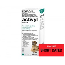 **Activyl for Dogs 40-60kg (89-132lb) Single