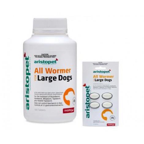 **Aristopet Allwormer 20kg Large Dog Tablets 100's