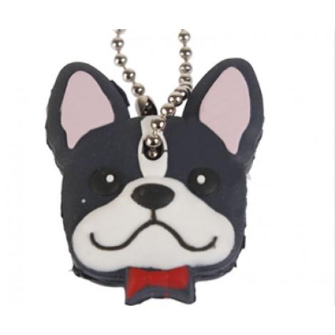 **Soft bulldog Dog Pet Key Cover & Keyring