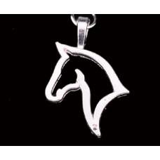 **SilverKey Chain Key Ring 'Horse:'