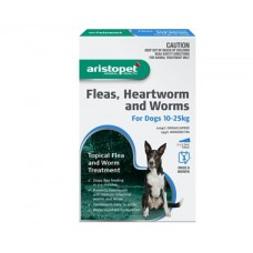 Aristopet Flea & Worm Spot On Dog 10-25kg 6 Pack