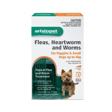 Aristopet Flea & Worm Spot On Dog up to 4kg 6 Pack