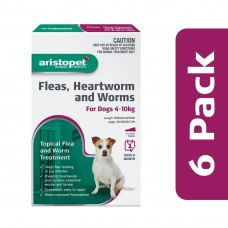 Aristopet Flea & Worm Spot On Dog 4-10kg 6 Pack