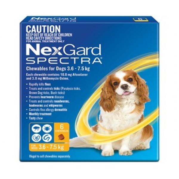 Nexgard Spectra Yellow Small Dog