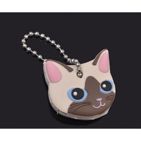 **Soft Siamese Cat Pet Key Cover & Keyring