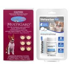 Vetastar for Small Dogs 30 Pack (Bonus Multigard Small 6 pack)