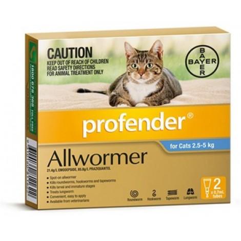 Profender 2-5-5kg (5.5-11lbs) 2 Vial Pack